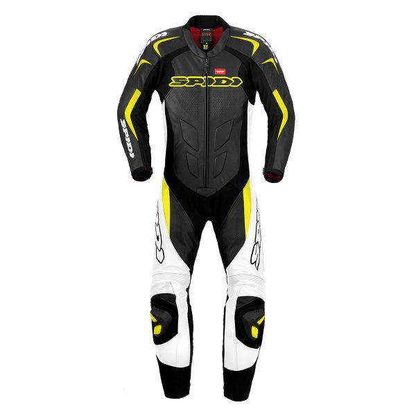 TUTA SPIDI INTERA SUPERSPORT WIND N- GIALLO FLUO TG. 52