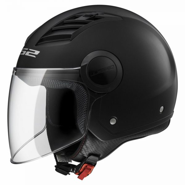 Casco jet LS2 OF562 Airflow  NERO OPACO
