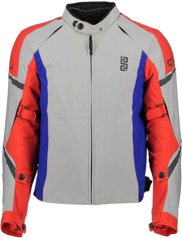 Giubbotto moto OJ Absolute 4 stagioni ghiaccio rosso fluo  blu tg. XL