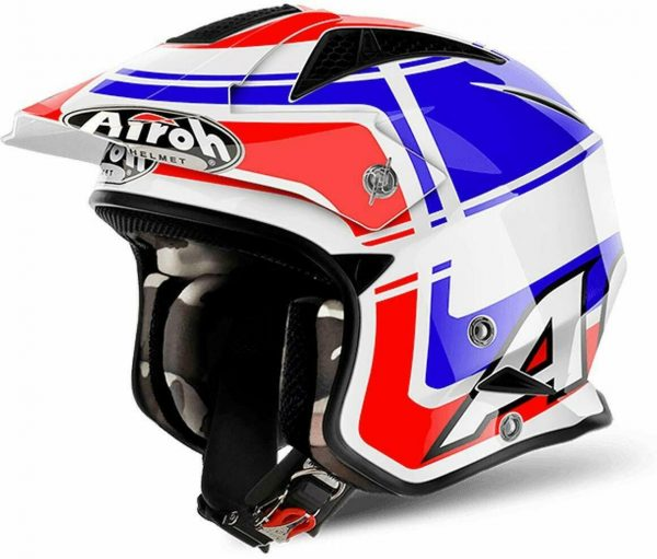 CASCO AIROH TRR S JET TRIAL FIBRA WINTAGE BLUE GLOSS