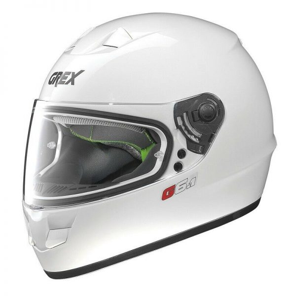 CASCO GREX INTEGRALE G6.1 KINETIC 27 BIANCO lucido