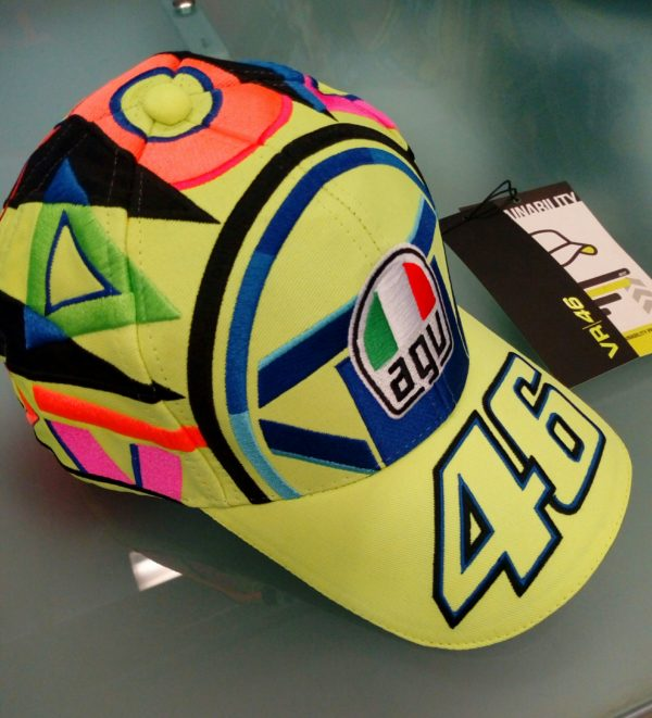 CAPPELLINO BERRETTO VR46 ROSSI AGV SUN AND MOON TG. UNICA