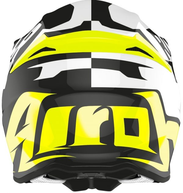 Casco Cross AIROH TWIST RACR Casco Nero / Bianco / Giallo TG. L