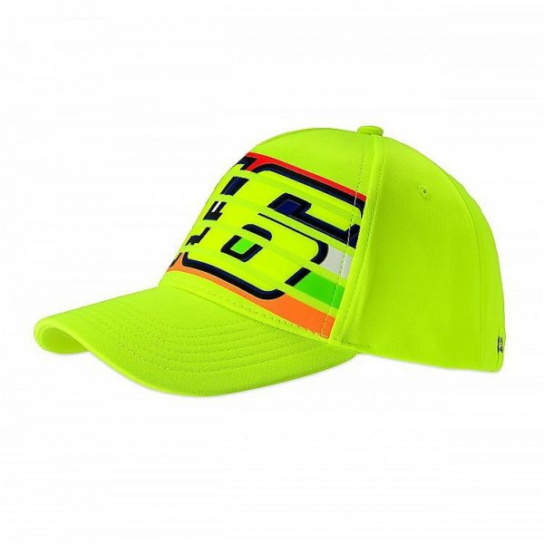 CAPPELLINO BERRETTO VR46   Classic Collection Stripes  Giallo Fluo  TG. UNICA