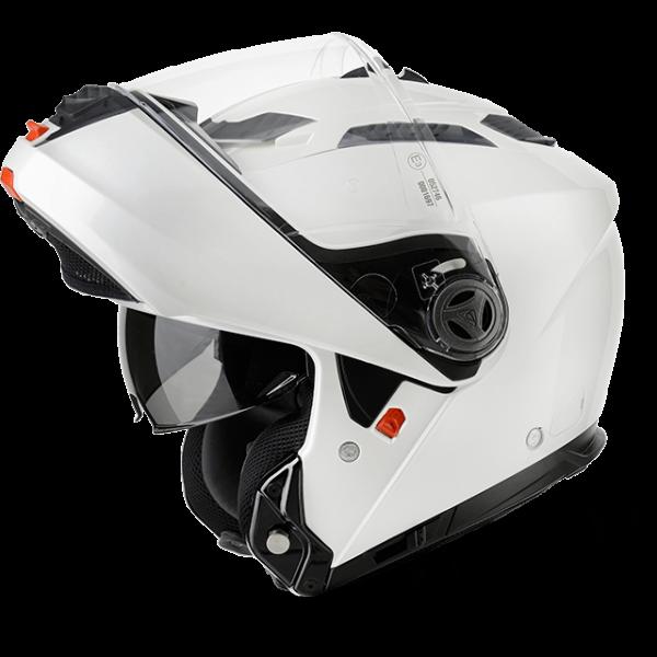 Casco modulare Airoh Phantom S Color Pinlock bianco lucido omologazione P-J