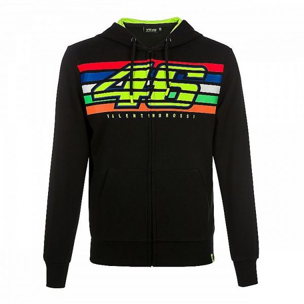FELPA VR46 UFFICIALE  VALENTINO ROSSI Classic Collection  Stripes TG. M