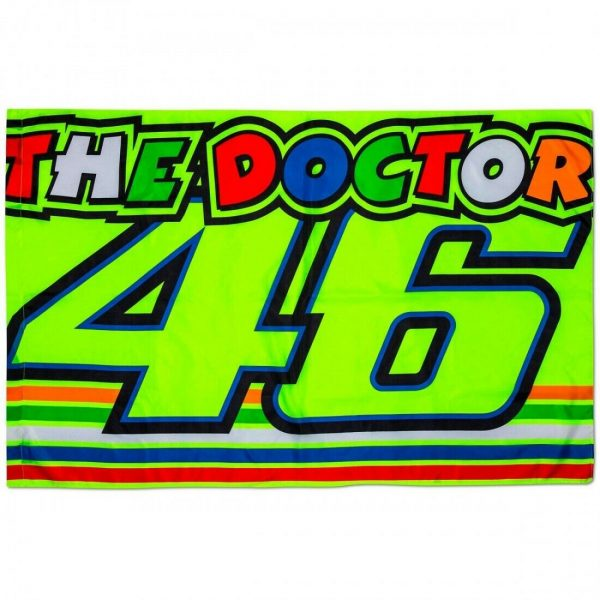 BANDIERA FLAG VR46  Ufficiale Valentino Rossi THE DOCTOR