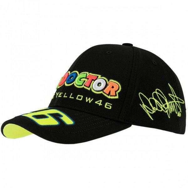 CAPPELLINO BERRETTO VR46 VALE  THE DOCTOR NERO  TG. UNICA