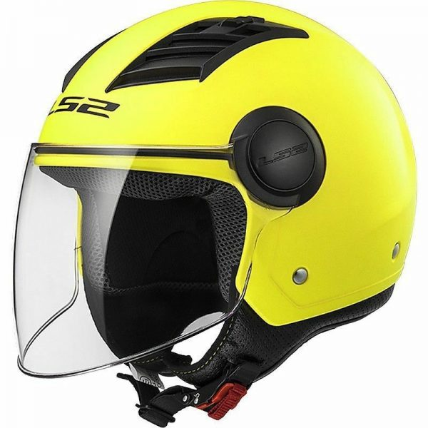 Casco jet LS2 OF562 Airflow GIALLO FLUO OPACO