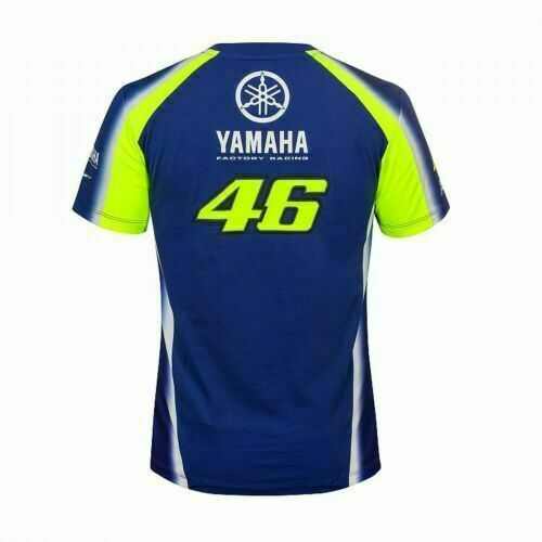 T-Shirt VR46 UFFICIALE YAMAHA VALENTINO ROSSI BLU TG. L