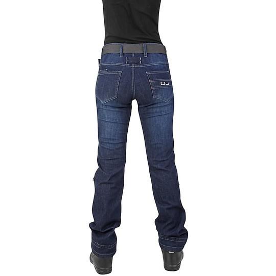 Pantaloni Moto Jeans Donna OJ VENERE Lady Blu RINFORZI