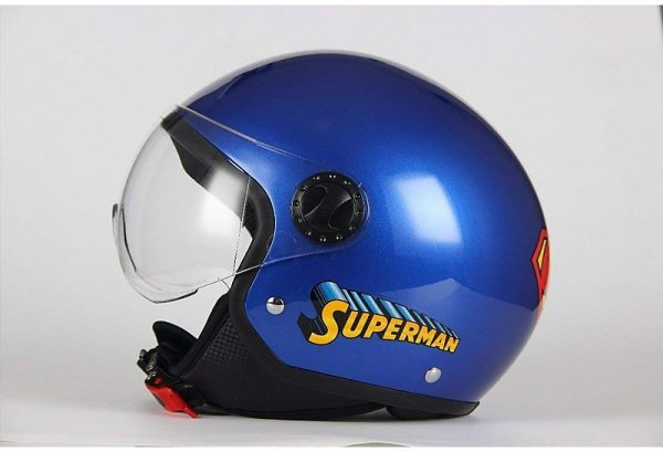 Casco Moto ADULTO  Demi-Jet Visiera Bombata BHR 801 WARNER BROS.  SUPERMAN
