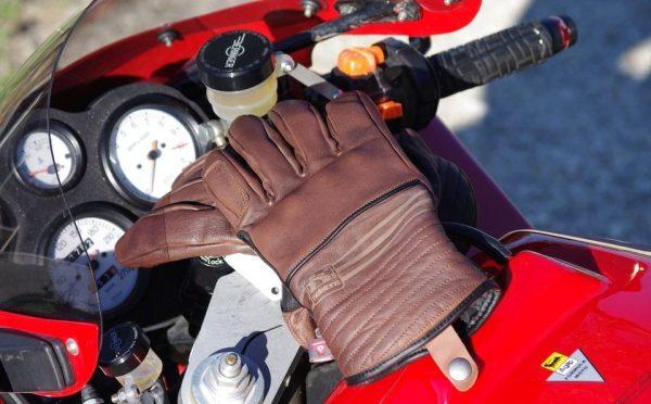 Guanti Moto Invernali In Pelle Pieno Fiore Helstons Mod. Rider HIVER COL. CUOIO